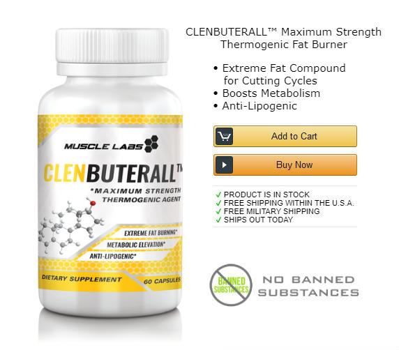 1 bottle of clenbuterol fat burning supplement.