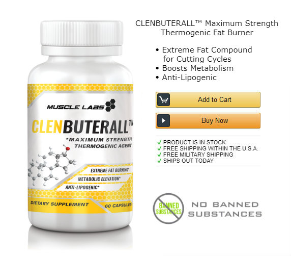 1 bottle of clenbuterol fat burning supplement.